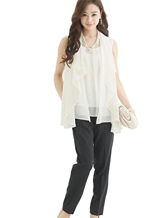 cfbf5b697a933d Amazon   プールヴー セットアップ パンツドレス お呼ばれ 女子会 レディース ホワイトブラック Lサイズ 11号 ドレス   オールインワン  通販