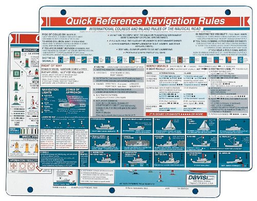 - Davis Instruments Navigation Rules Quick Reference Card