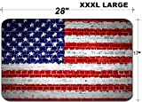 Liili Large Table Mat Non-Slip Natural Rubber Desk Pads An image of the United States of America flag painted on a wall in an urban location IMAGE ID 12423046