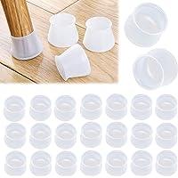 24Pcs Tapas Protectores Patas Sillas de Silicona Antideslizante Cubierta de Protección de Piernas de Muebles Almohadilla…