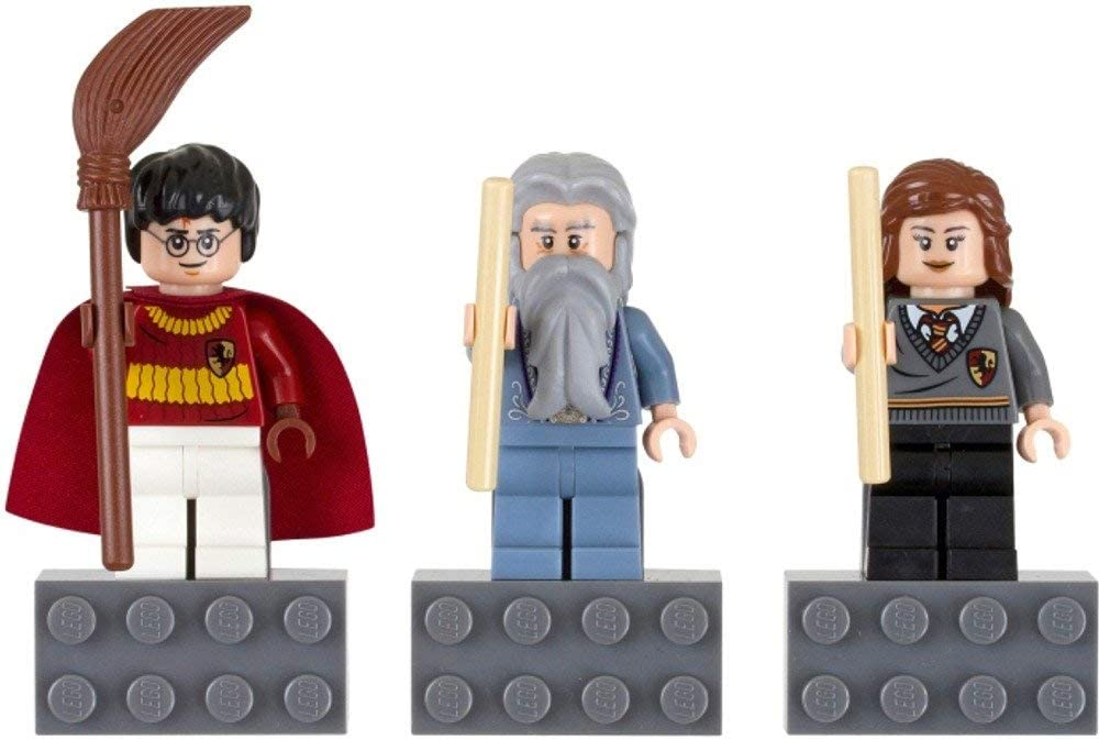 LEGO Harry Potter Minifigure Magnet Set 852982 Harry Potter, Professor Dumbledore, and Hermione Granger