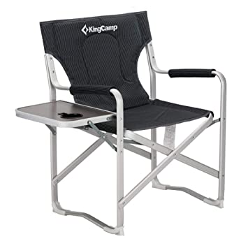 Strange Kingcamp Director Chair Full Back Folding Aluminum Padded Portable Heavy Duty Comfort Sturdy With Armrest Side Table And Cup Holder For Camping Uwap Interior Chair Design Uwaporg