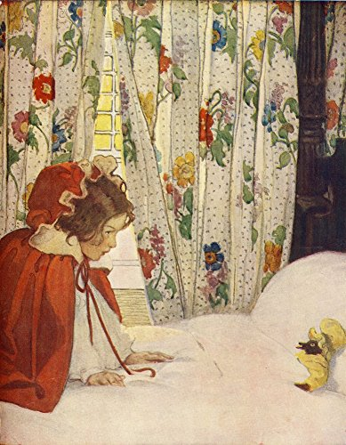 (The Now-a-Days Fairy Book 1911 Little Red Riding Hood Poster Print by Jessie Willcox Smith (18 x 24))