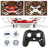 3D Flying 2.4Ghz 4CH Axis GYRO Headless LED mini Explorers RC Quadcopter Drone Toys