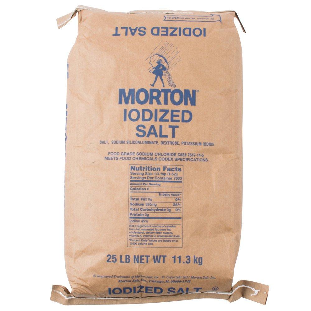 Morton Table Salt, Iodized, 25 Pound : Grocery & Gourmet Food
