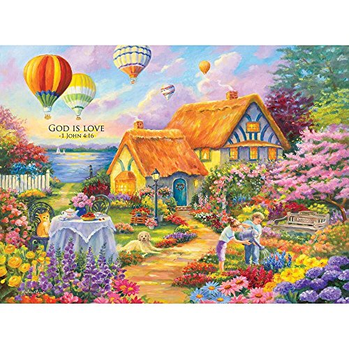 Spring in Grandmas Garden (Inspirations 1000), A 1000 Piece Jigsaw Puzzle by Lafayette Puzzle Factory