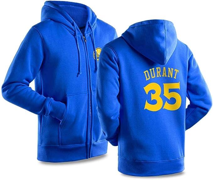 KSITH NBA Golden State Warriors Durant # 35 Sudadera con Capucha ...