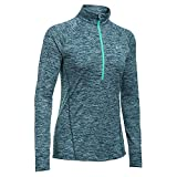 Under Armour Twist Tech 1/2 Zip Top - Women's Nova Teal / Crystal / Metallic Silver XS