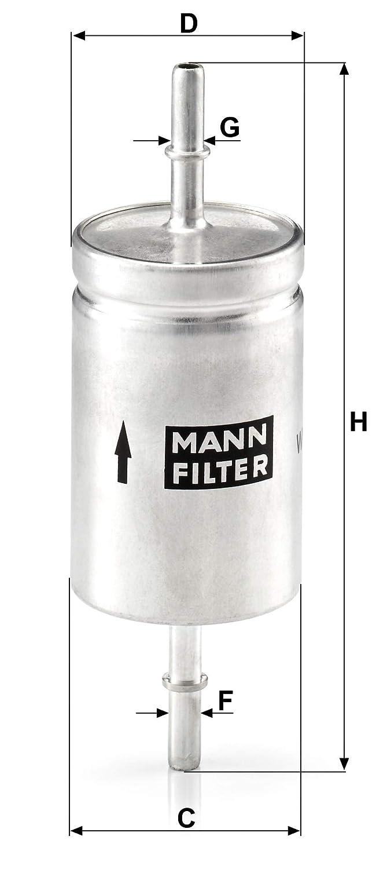 Original MANN-FILTER Filtre /à carburant WK 512 Pour v/éhicules particuliers