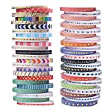 Tools & Hardware : 48 Rolls Washi Tape,Foil Gold Skinny Decorative Masking Washi Tapes,3MM Wide DIY Japanese Masking Tape Supplies