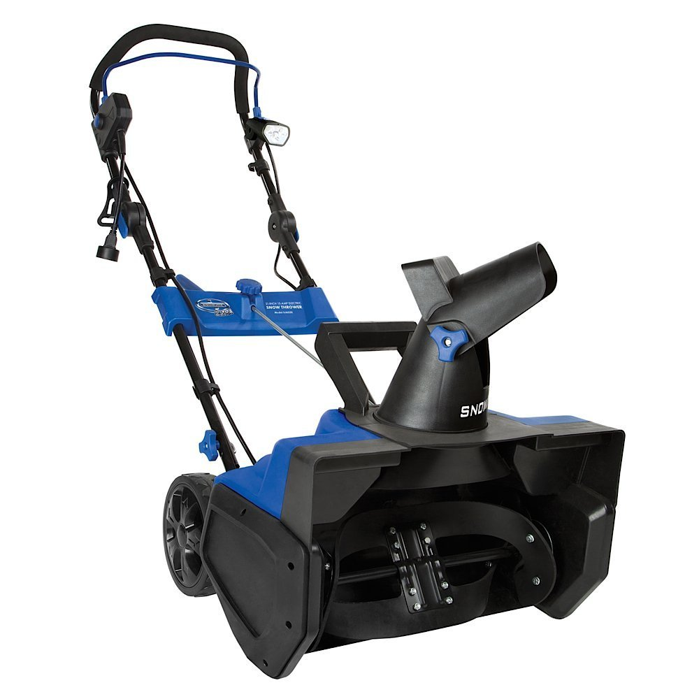 Electric Snow Blower From Snow Joe Featuring 21'' Girth, 15 AMP Electric Power Source- Gets The Big Jobs Done With Quiet Eco-Friendly Cordless Elecgtric Power- No Gas-, Oil or Tune-Ups, Low Upkeep