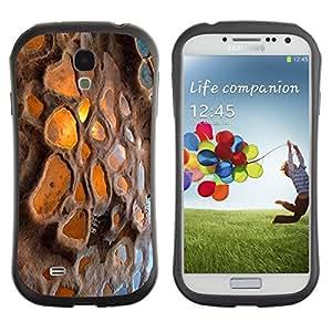 "Hypernova Slim Fit Dual Barniz Protector Caso Case Funda Para SAMSUNG Galaxy S4 IV / i9500 / i9515 / i9505G / SGH-i337 [Islandia Puesta de sol Reflejo Volcán""]"