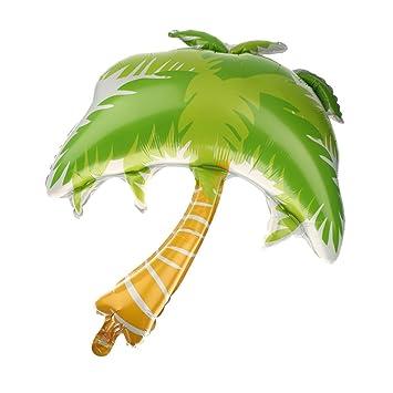 magideal 1pc green palm tree golden hawaiian beach party balloon