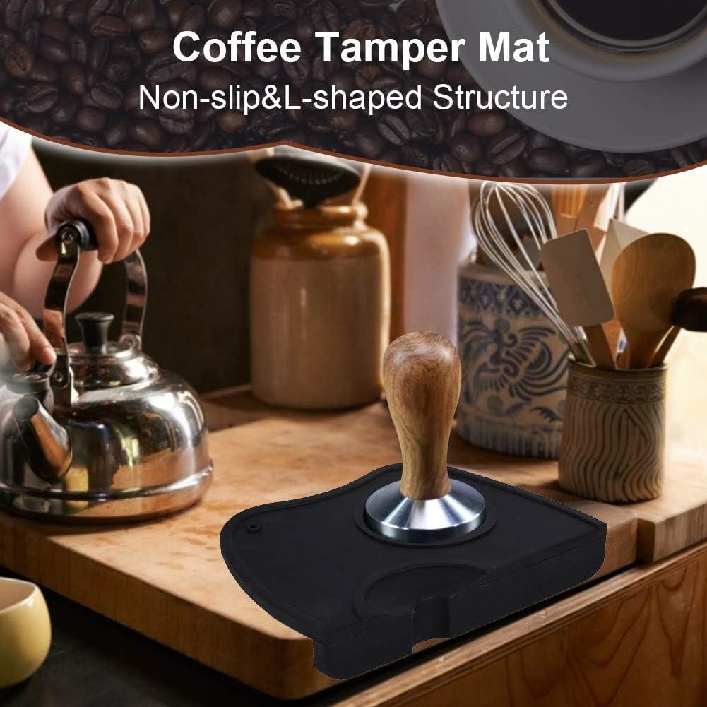 Tamper Caffè Ad Angolo Filtro Portafilteri Tamper Tappetino Antiscivolo