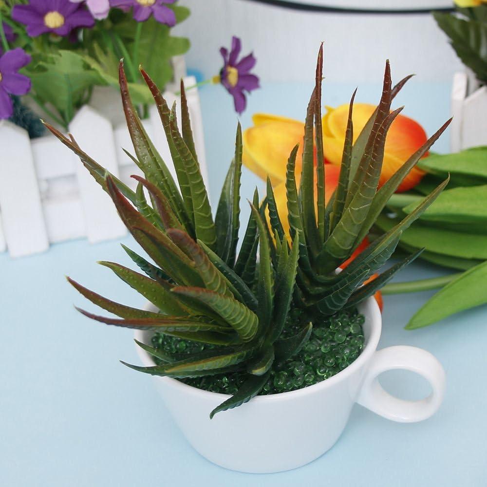 MAXGOODS 2/artificielle Aloe Picks Latex souple Faux Aloe Plante /à 11,9/x 6,9/cm Vert Bloom