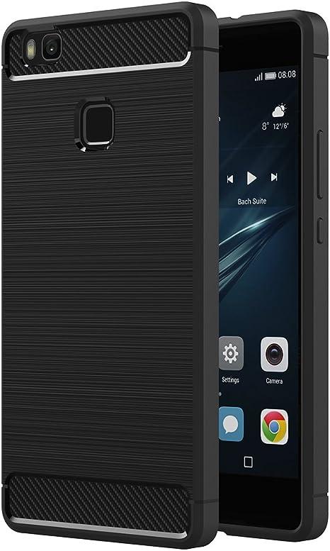 AICEK Funda Huawei P9 Lite, Huawei P9 Lite Funda Negro Gel de ...
