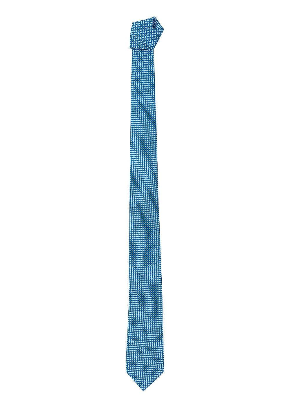 MANGO MAN -Corbata de lunares de seda Hombre Azul azul Talla única ...