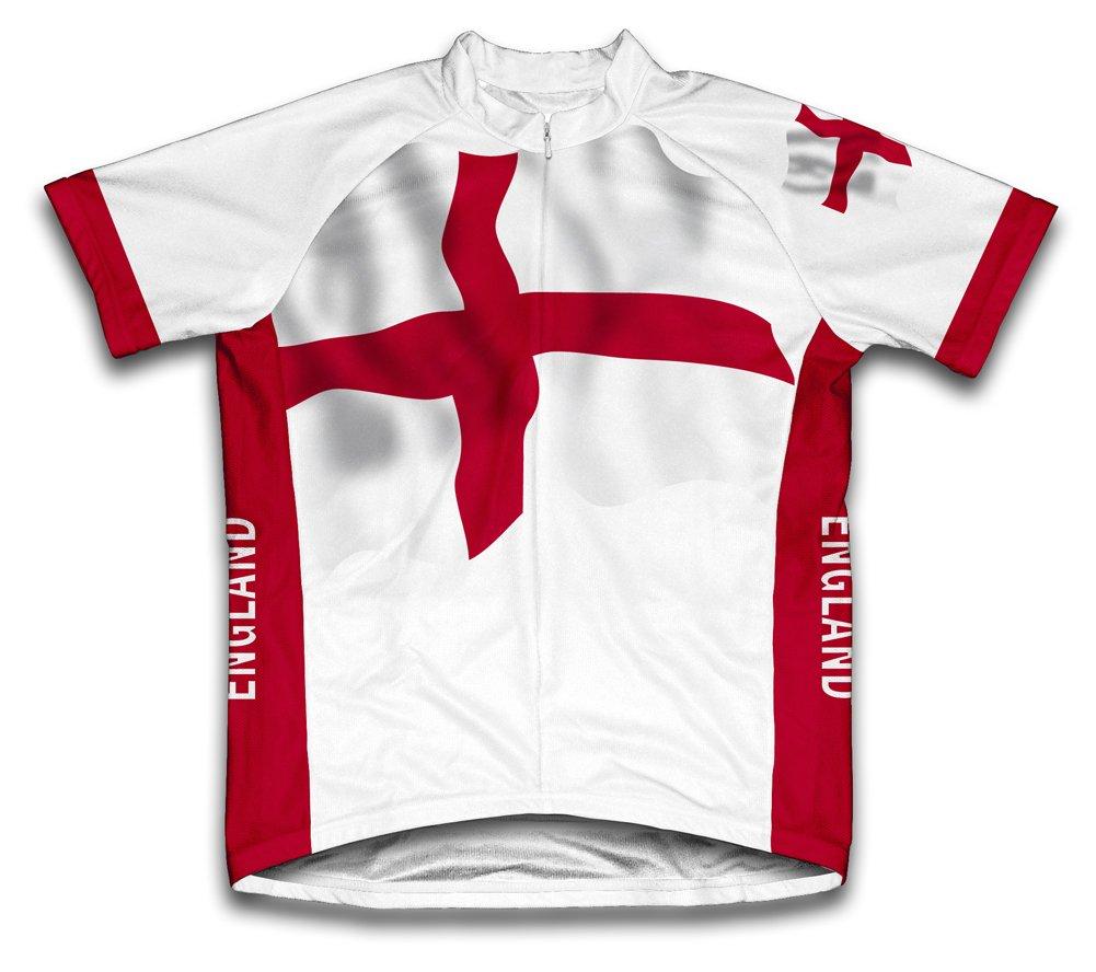amazon com england flag short sleeve cycling jersey for men