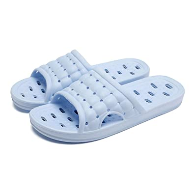 8ab21610b1c98 Moodeng Men s and Women s Non-Slip Bathroom Shower Slippers with Foot  Massage Fashion Sandal