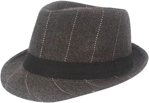 Doingshop 1920s Panamá Fedora Sombrero Gorra para Hombre ...