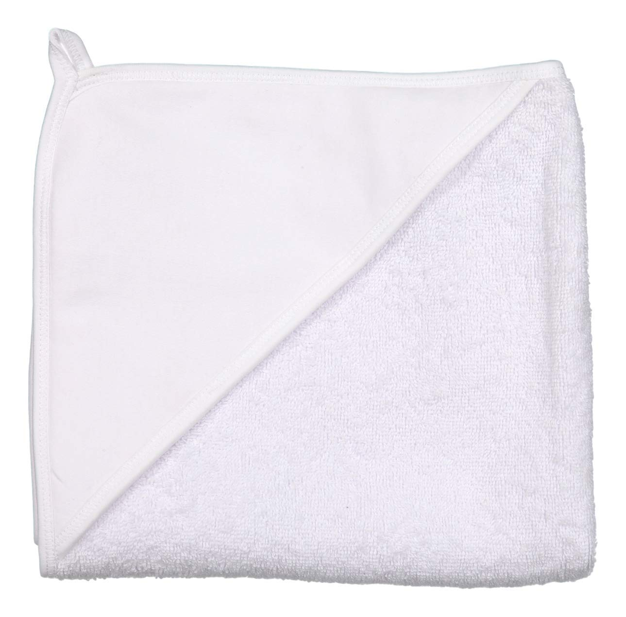 giggle Terry Towel - Pure White - Soft Hooded Baby Bath Wrap by giggle