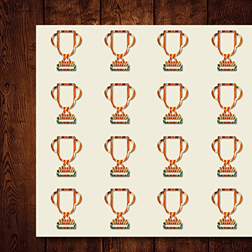 (Trophy Win Reward Score Scoreboard Craft Stickers, 44 Stickers at 1.5 Inches, Great Shapes for Scrapbook, Party, Seals, DIY Projects, Item)
