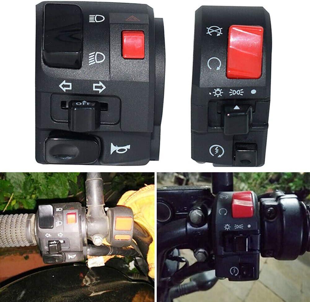 BESTEU 1 para Motorrad Schalter Lenker Controller Schalter Motorrad Hupe Blinker Start Schalter Taste