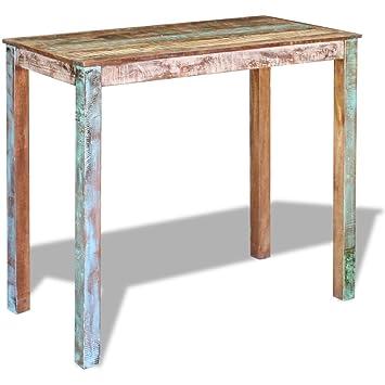 edf0d9e5b2ef3 Festnight Tables Basses de Salon Tables de Bar Bois Massif de récupération  115 cm
