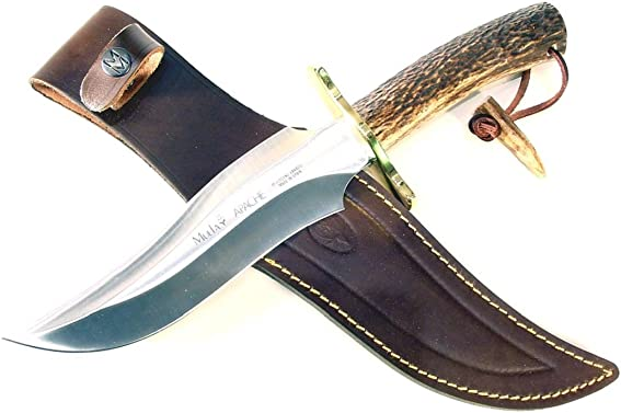 Muela Apache Red Stag Horn Handle Hunting Knife