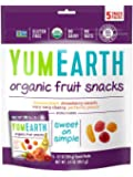 YumEarth Organic Natural Fruit Snacks, 5 Count, net wt. 3.5oz