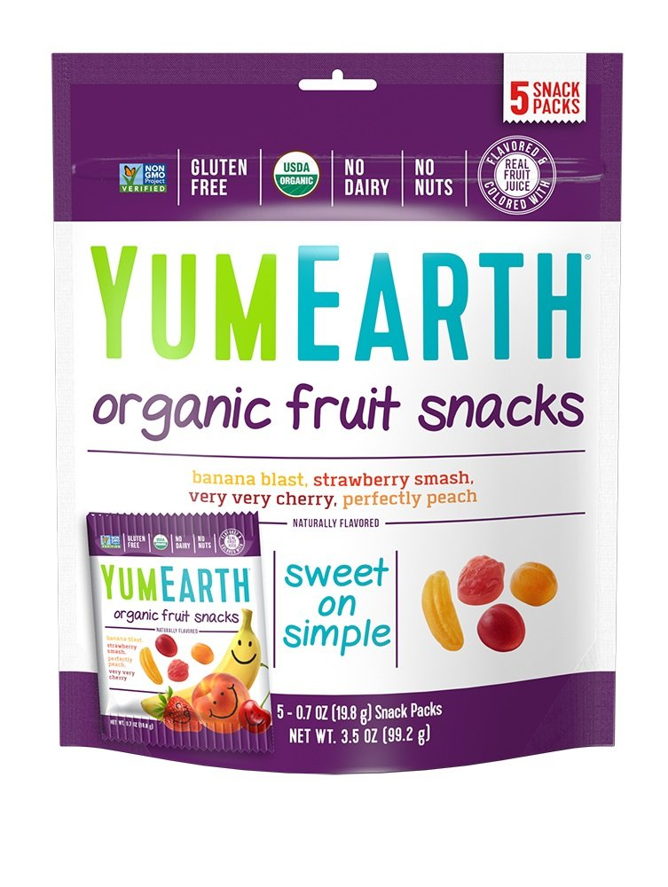 YumEarth Organic Fruit Snacks, 5 Snack Packs