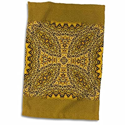 Ornaments to Paint Houk Digital Abstraction Art; Fancy Kaleidoscopes - Inka Ornament Cross Mandala - x Towel