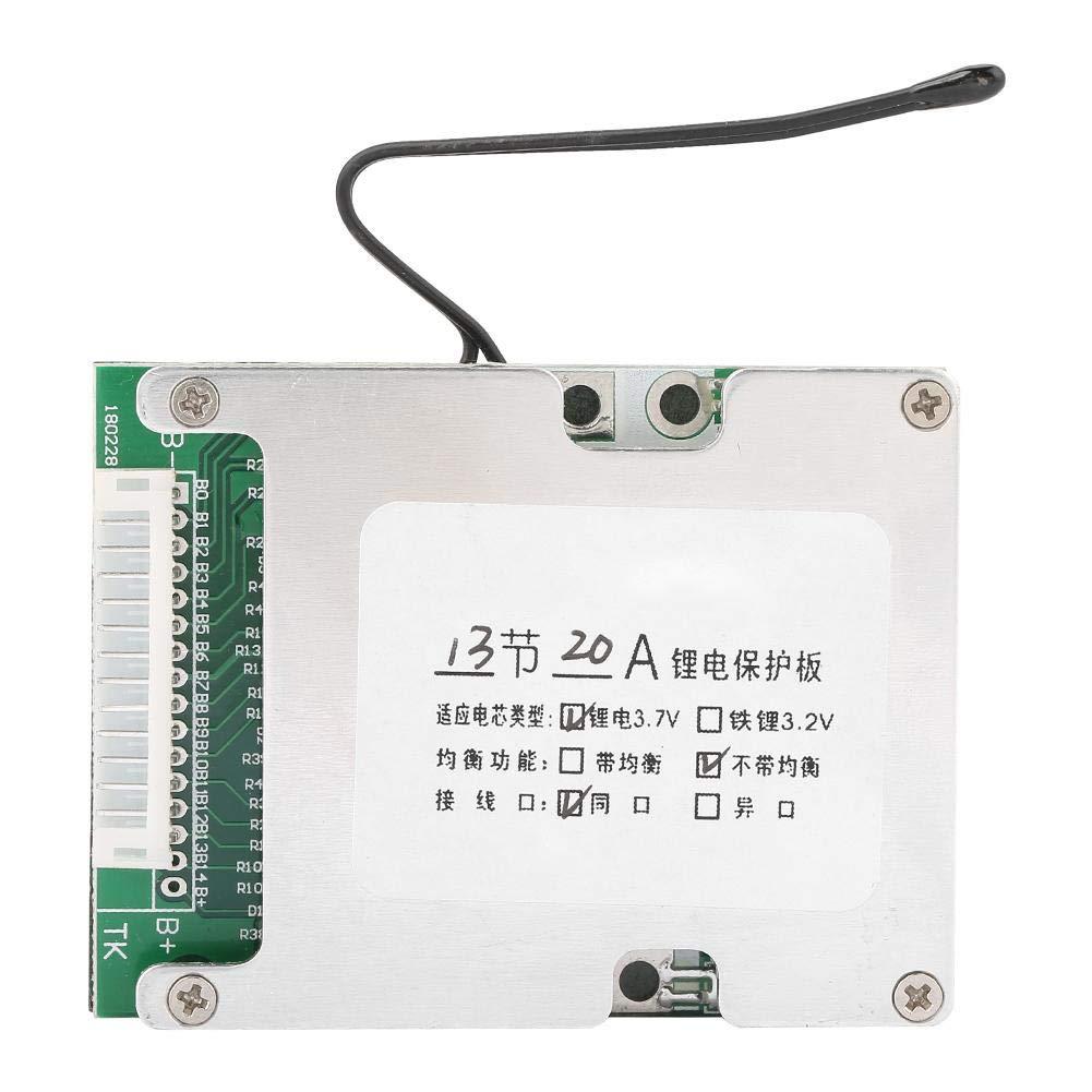Carte de Protection de Batterie au Lithium, Keenso Panneau de Carte PCB de BMS de Panneau de Protection de Batterie au Lithium de 13S 20A
