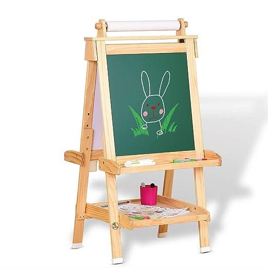 Tablero de dibujo de los niños de caballete de madera maciza mesa ...