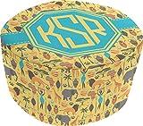 African Safari Round Pouf Ottoman (Personalized)