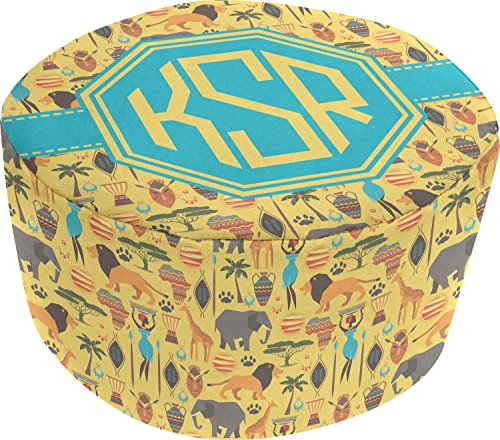 African Safari Round Pouf Ottoman (Personalized) by RNK Shops