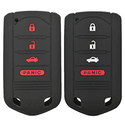 Coolbestda 2Pcs Key Fob Cover Case Protector Remote Control Skin for Acura MDX TL TLX ZDX RDX TSX RL ZD IL M3N5WY8145 (Not fit Engine Hold FOB): Automotive