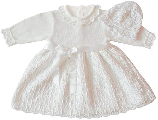 Deine Brautmode Taufkleid Strickkleid Festkleid Mädchen Babykleid