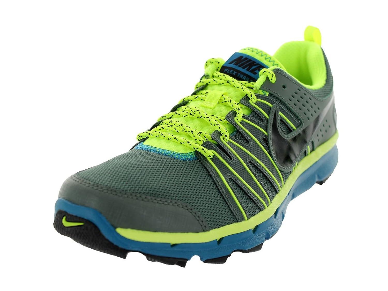 The Mens Nike Flex Trail 2 Trail Running Shoe Dark Mica Green/Volt/Green Abyss/Black