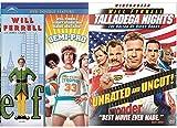 Talladega Nights + Semi-Pro & Elf DVD Will Ferrell Collection Comedy Set 3 Movies