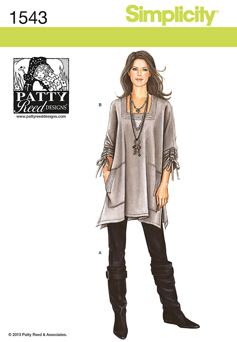 Amazon.com: Simplicity Patterns Misses Tunic and Knit Pants by Patty ...