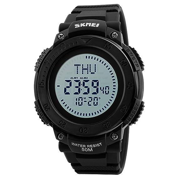 Para hombre Digital Sports reloj de pulsera LED pantalla ...