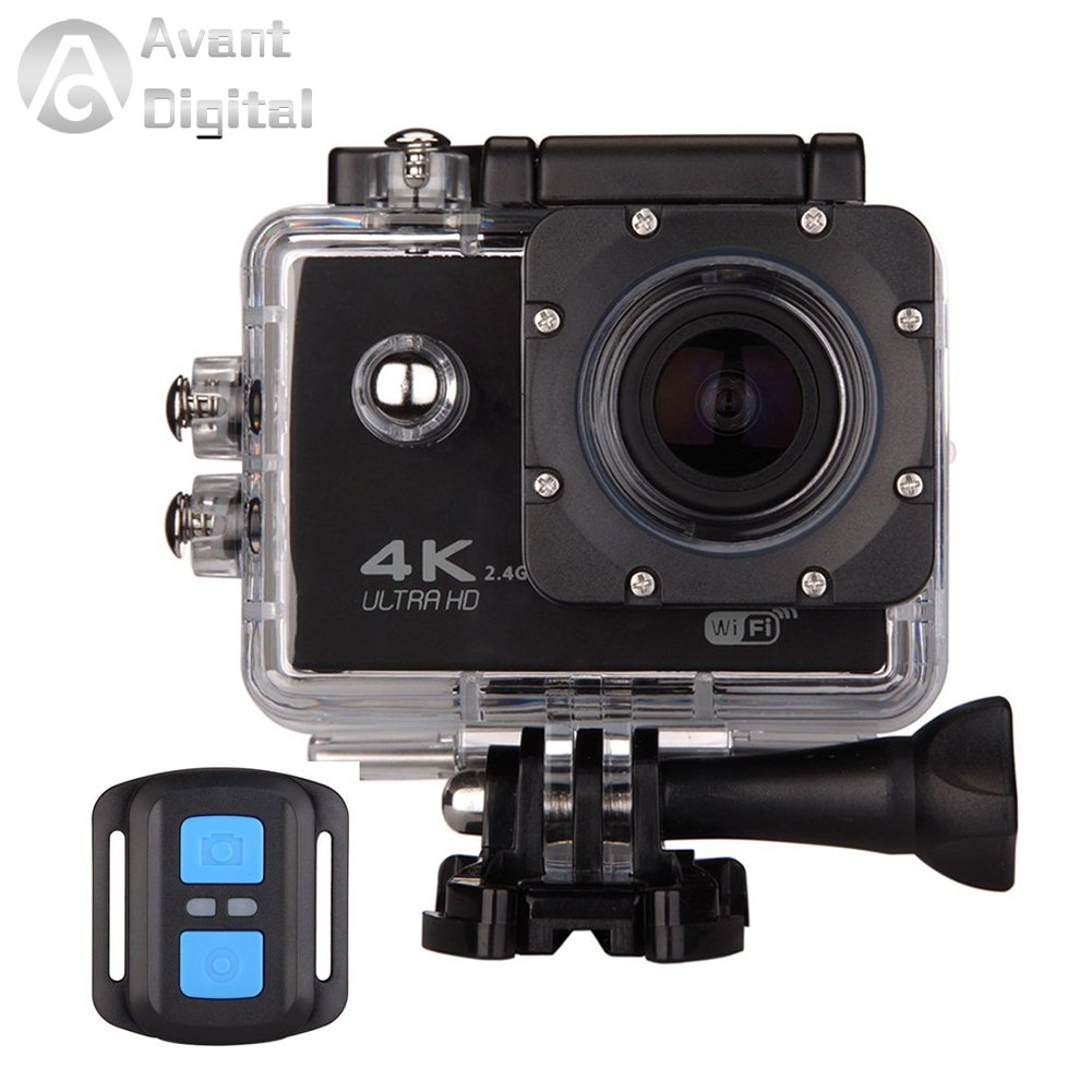 Waterproof Action Camera AD Sports Camera 4K 16MP Wifi Remote Control 170 Ultra Wide Lens SONY Sensor 2017 Newest by Avant Digital