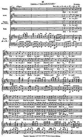 G.F. Handel: Hallelujah Chorus (Original octavo Edition ...