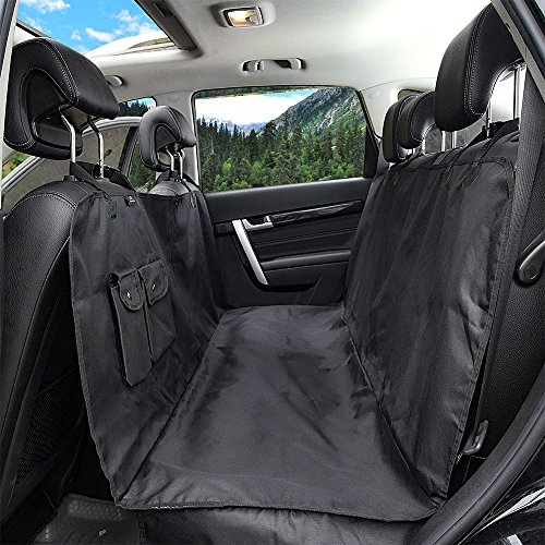 Winner Outfitters Dog Car Seat Cover With Side Flap, Pet Seat Cover With Zipper and Pocket Dog Seat Cover for Cars, Trucks, and Suv's – Black, WaterProof & NonSlip Backing
