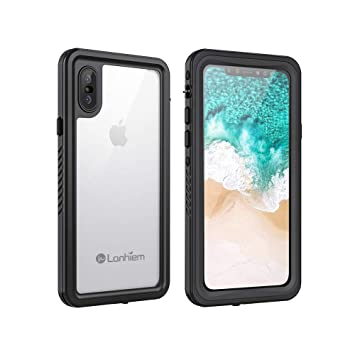 a2db63d066b Lanhiem Funda Impermeable iPhone X, Carcasa Sumergible Resistente Al Agua IP68  Certificado [Protección de 360 Grados], Carcasa para iPhone XS con  Protector ...