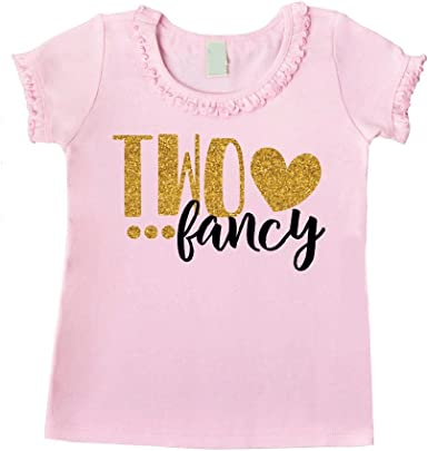 Bump and Beyond Designs Two Fancy Second Birthday Outfit Girl 2nd Birthday T-Shirt