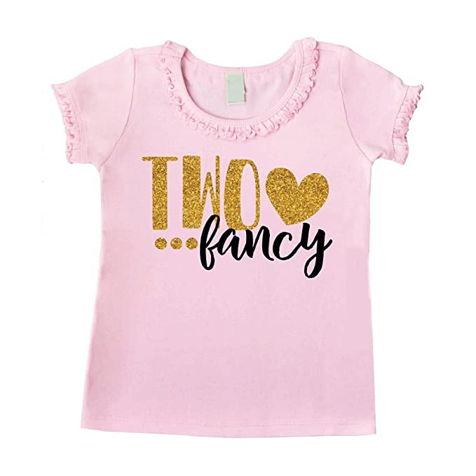 Bump And Beyond Designs Second Birthday Outfit Girl Two Year Old Shirt Pink