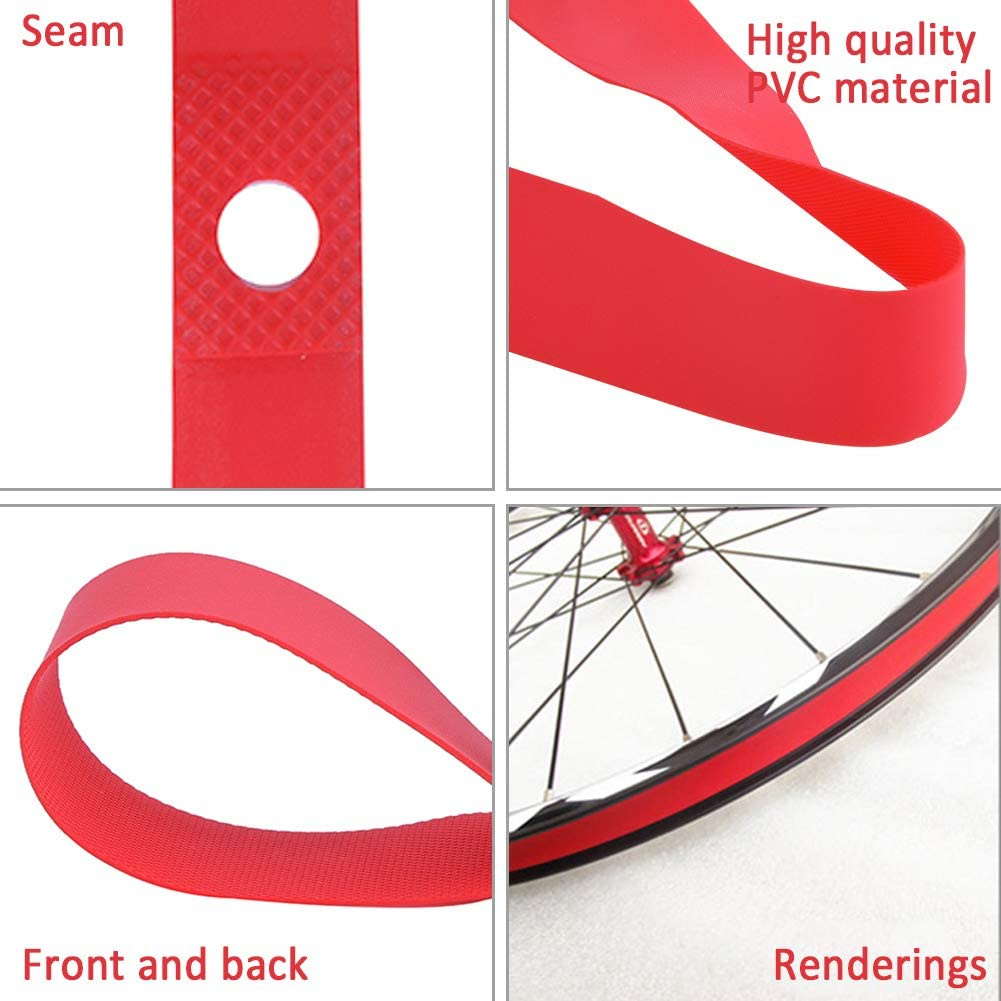 Pack of 2 PVC Bicycle Tire Liner MT Mountain Protector Belt 26inch x 20mm