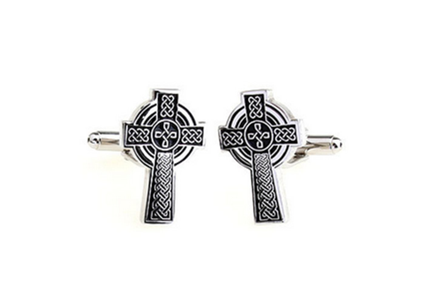 Gudeke Carving Cross Cufflinks Sculpture Traverser Boutons de manchette